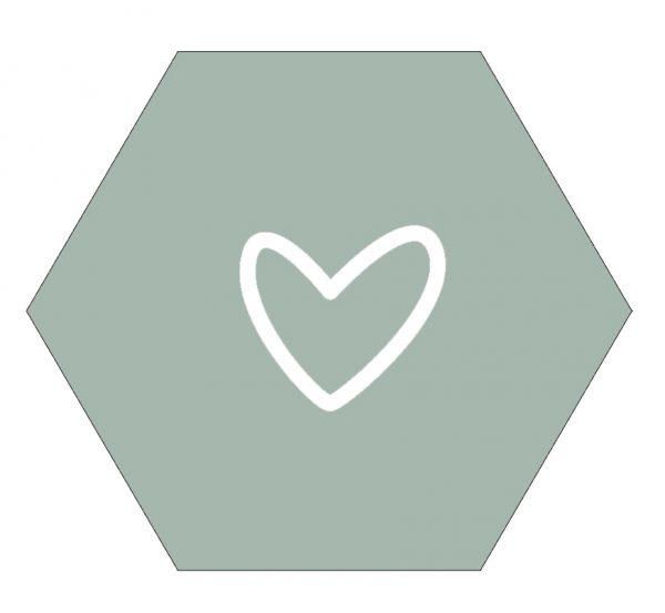 Muur hexagon