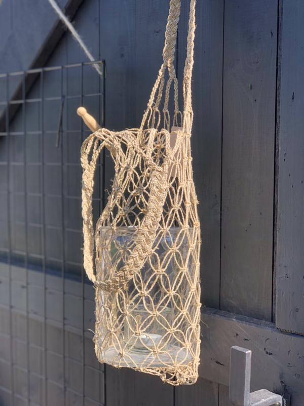 Hennep / zeegras  bottle houder