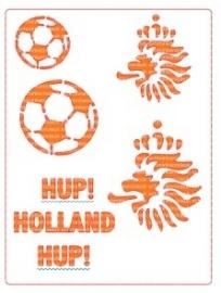 Schminksjabloon hup holland hup
