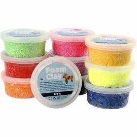 Foam klei (10 doosjes in verschillende kleuren)