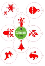 Schminksjabloon set kerst