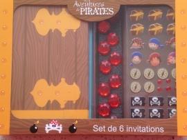 Piraten-uitnodiging (6 stuks)