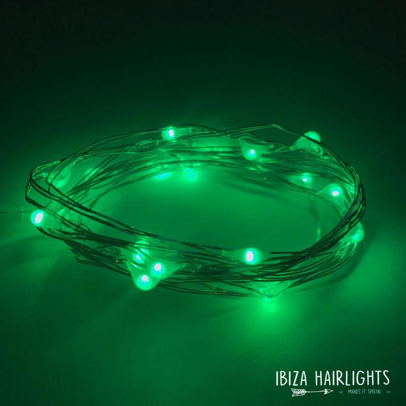 Ibiza hairlights!  groen