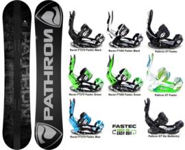 Pathron Draft  2020 Snowboard + Fastec Bindingen