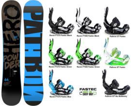 Pathron Powder Hero 2019 Snowboard + Fastec Bindingen