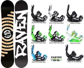 Raven Relict 2020 Snowboard + Fastec Bindingen