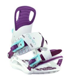 Raven Starlet White/Blue/Violet 2020 Snowboard Bindingen