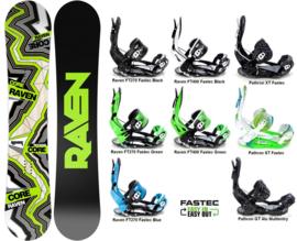 Raven Core Carbon 2020 Snowboard + Fastec Bindingen