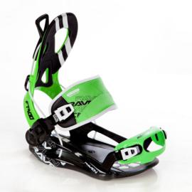 Raven FT400 Fastec Green 2020 snowboard bindingen