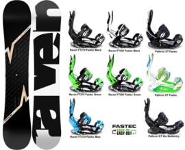 Raven Pulse 2020 Snowboard + Fastec Bindingen
