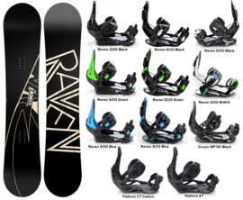 Raven Element Carbon 2020 Snowboard + Bindings