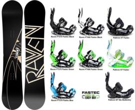 Raven Element Carbon 2020 Snowboard + Fastec Bindingen