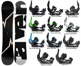 Raven Pulse 2020 Snowboard + Bindings