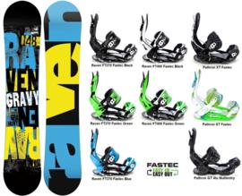 Raven Gravy 2020 Snowboard + Fastec Bindingen
