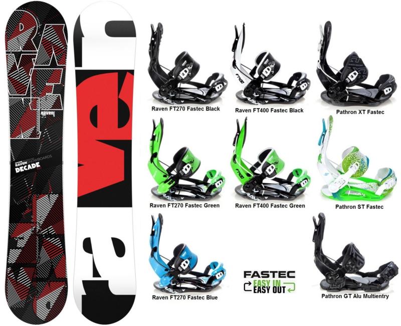 Pathron Decade Carbon 2018 Snowboard + Fastec Bindingen