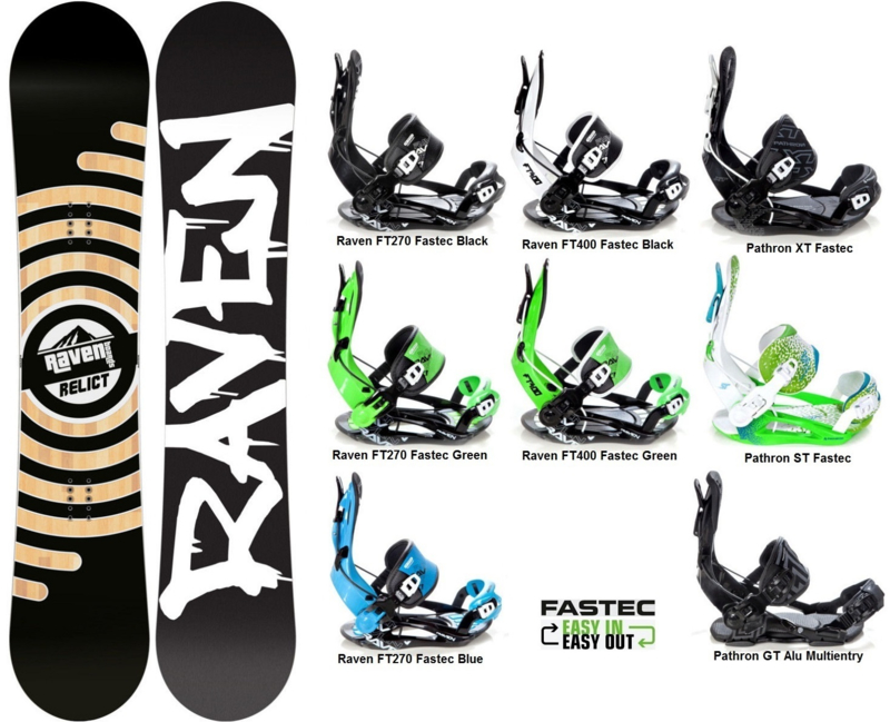 Raven Relict 2019 Snowboard + Fastec Bindingen