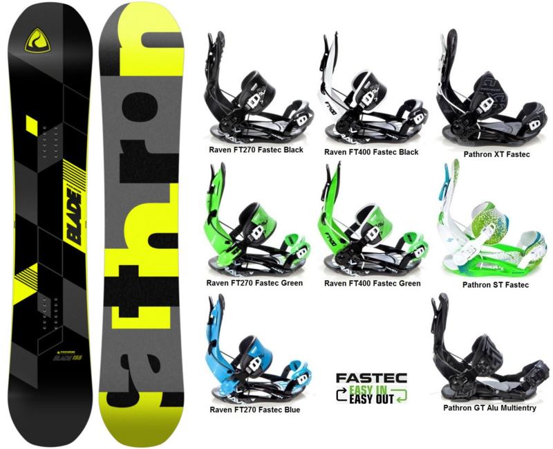 Pathron Blade  2019 Snowboard + Fastec Bindingen