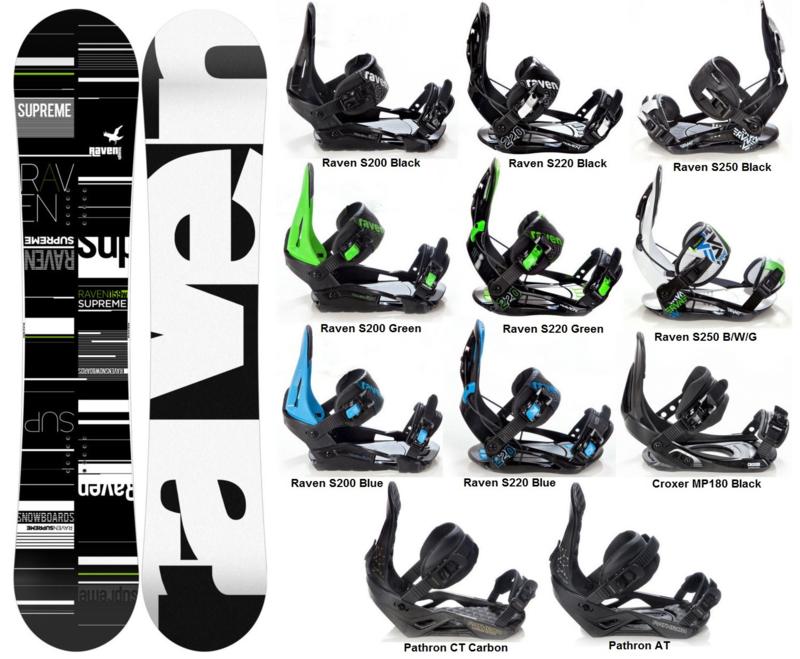 Raven Supreme 2020 Snowboard + Fastec Bindingen