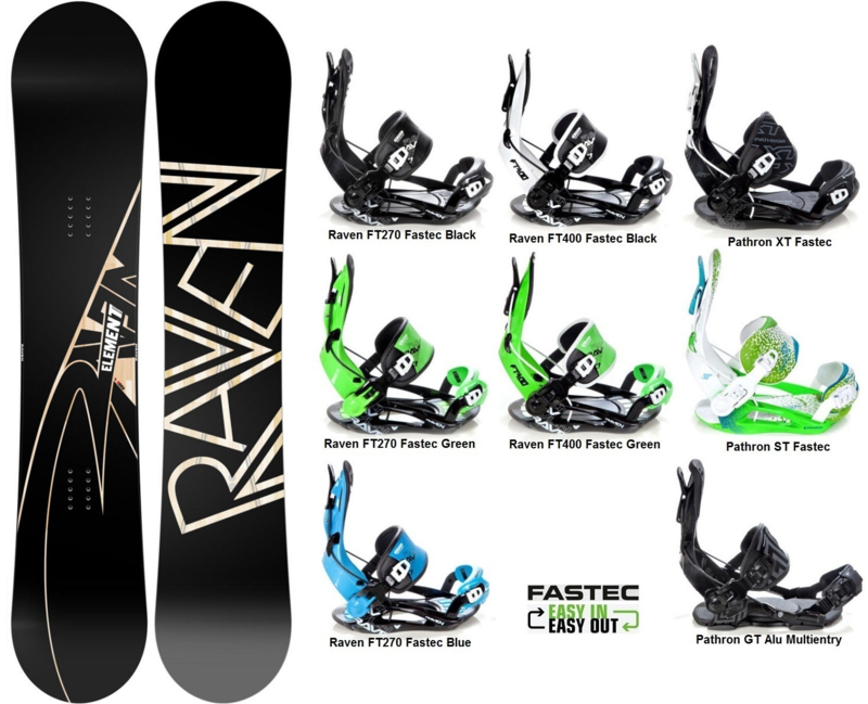 Raven Element Carbon 2019 Snowboard + Fastec Bindingen