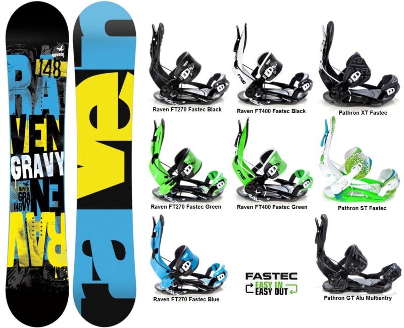 Raven Gravy 2019 Snowboard + Fastec Bindingen