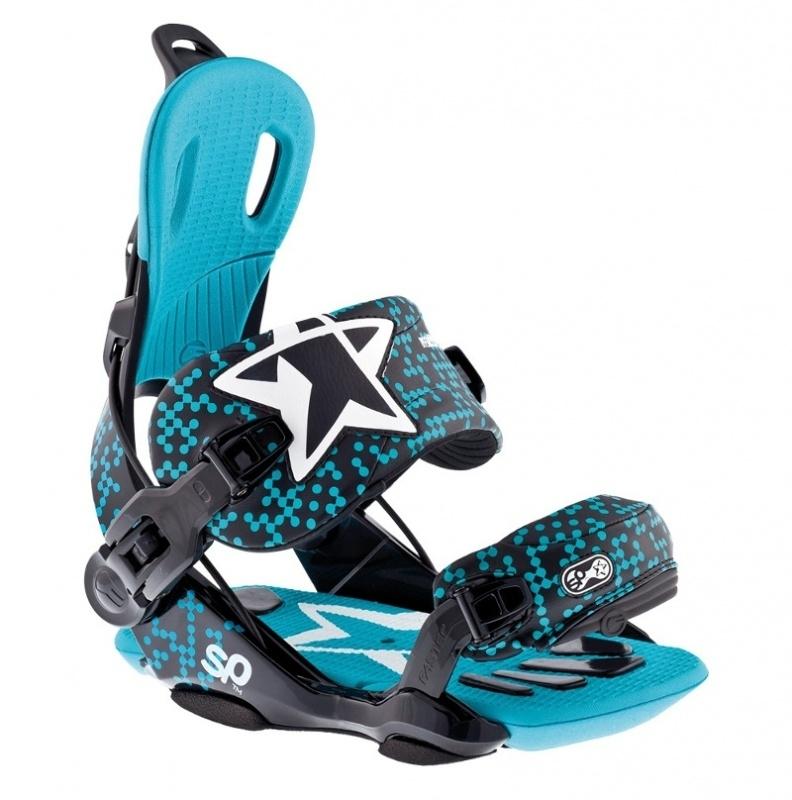 SP Fastec Starr Black/Mint Snowboard Bindings - S/M