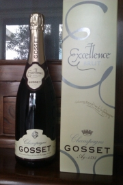 Gosset Excellence Brut € 42,= per fles