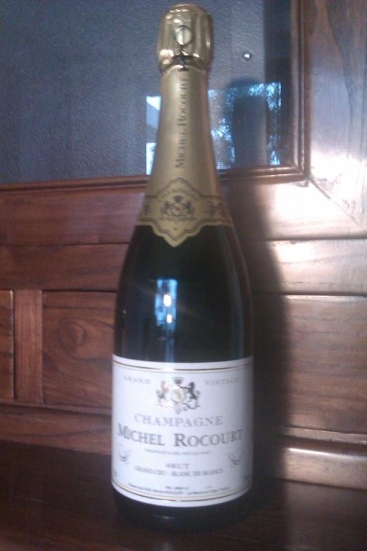 Michel Rocourt Grand Vintage GRAND CRU Blanc de Blancs Brut € 28,= per fles