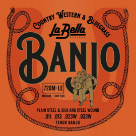 La Bella Acoustic Folk snarenset tenor banjo 011