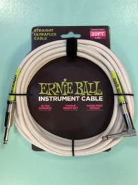 Ernie Ball cable white straight/angled