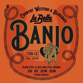 La Bella Acoustic Folk snarenset tenor banjo