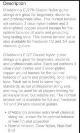 D'Addario Classic Nylon Normal Tension