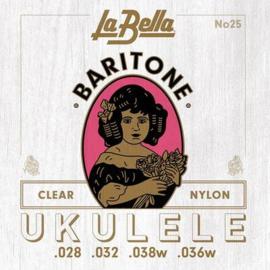 La Bella Acoustic Folk snarenset bariton ukelele