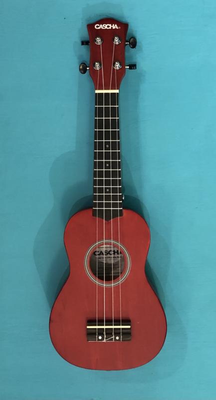 Cascha sopraan ukelele rood