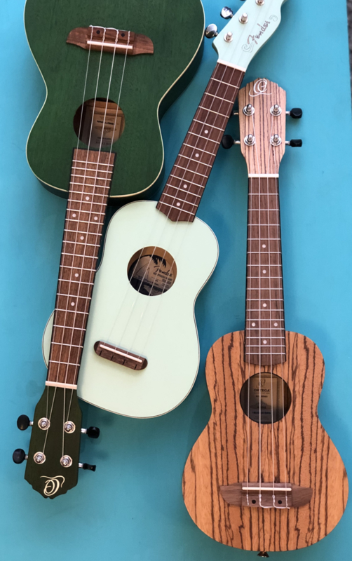 Ukelele soprano or concert Ortega and Fender