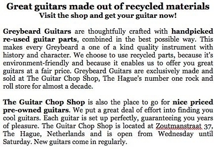 Re-used Guitars