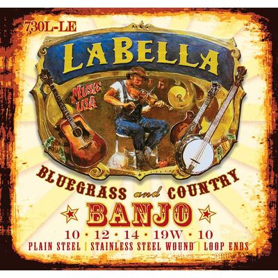 La Bella Acoustic Folk snarenset banjo 5-snarig 010