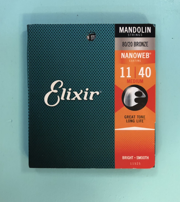 Elixir Mandolin 80/20 bronze Nanoweb 11-40