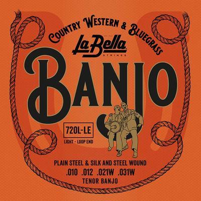 La Bella Acoustic Folk snarenset tenor banjo