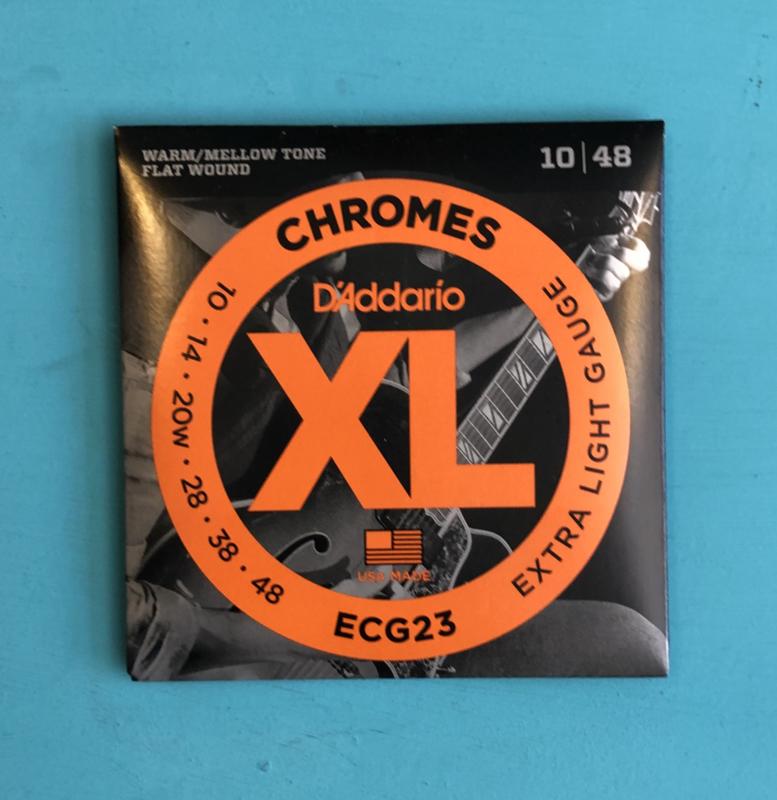 D'Addario  ECG23 Chromes. Flatwound