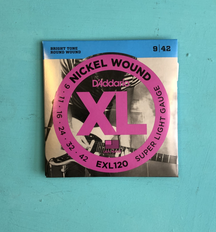 D'Addario EXL120 Nickel Wound 9-42