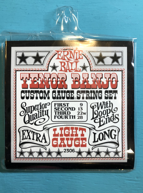 Ernie Ball light gauge tenor BANJO 9, 13, 22w,28