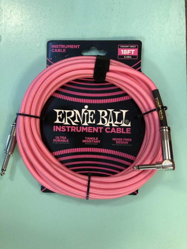 Ernie Ball cable neon pink straight/angled