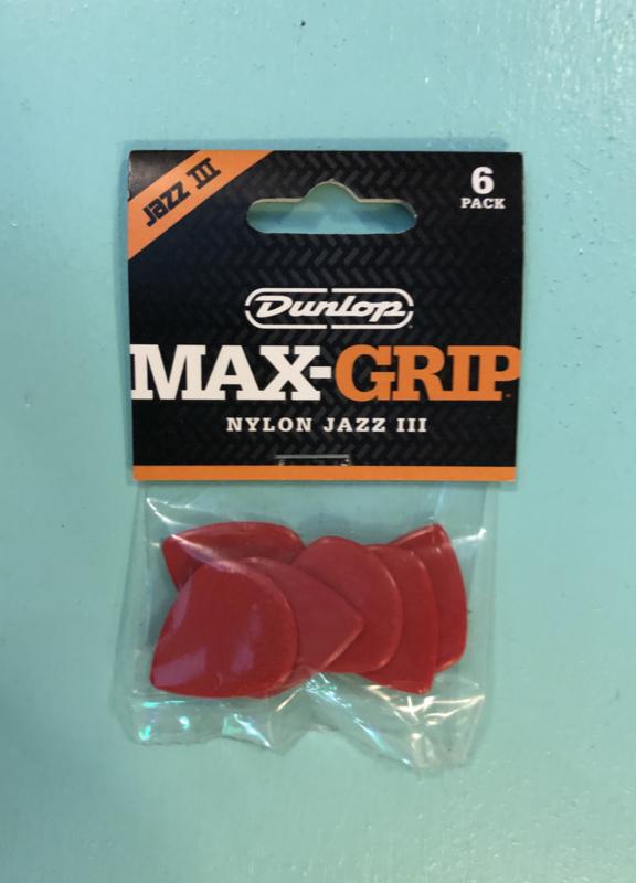 Dunlop Jazz III Max-Grip picks
