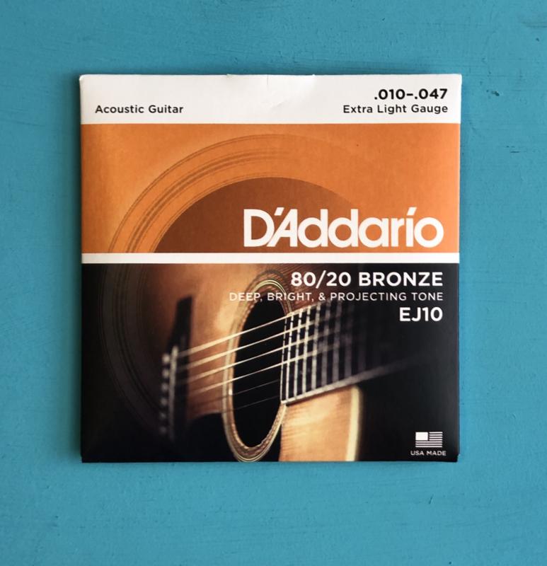 D'Addario 010-047 80/20 bronze ej10