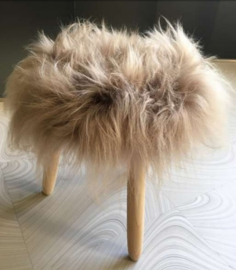 Mole Brown Icelandic Sheepskin Stool
