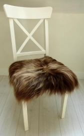 Chair Pad Icelandic Sheepskin, Copper Brown, Long wool