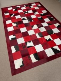 Red Harmony Patchwork Tapijt, 200 x 300 cm