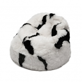 Light Spotted Shorn Sheepskin Bean Bag