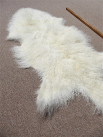 White Curly Mongolian Sheepskin (3435)