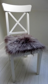 Chair Pad Icelandic Sheepskin, Taupe, Long Wool.